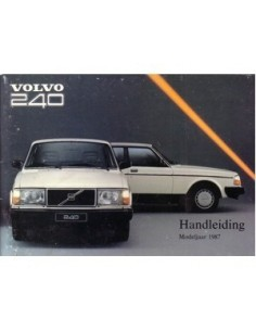 1987 VOLVO 240 OWNERS MANUAL HANDBOOK DUTCH