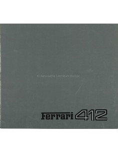 1985 FERRARI 412 BROCHURE 363/85