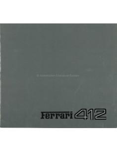 1985 FERRARI 412 PROSPEKT 363/85
