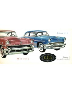 1955 MERCURY / LINCOLN BROCHURE NEDERLANDS