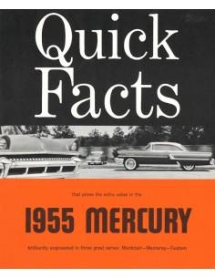 1955 MERCURY PROGRAMM PROSPEKT ENGLISCH
