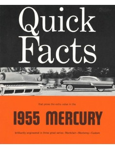 1955 MERCURY RANGE BROCHURE ENGLISH