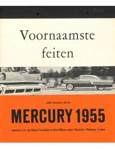 1955 MERCURY PROGRAMM PROSPEKT NIEDERLÄNDISCH
