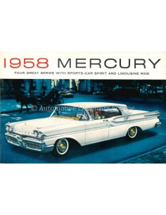 1958 MERCURY RANGE BROCHURE ENGLISH