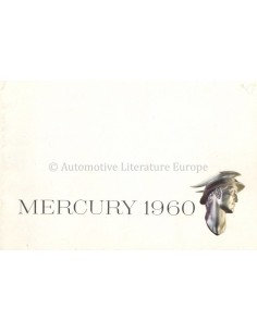 1960 MERCURY PROGRAMM PROSPEKT ENGLISCH