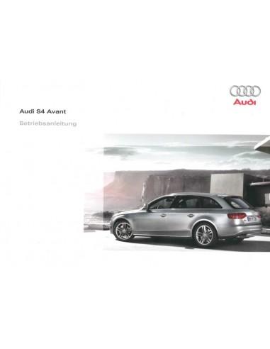 2009 AUDI S4 AVANT OWNERS MANUAL GERMAN