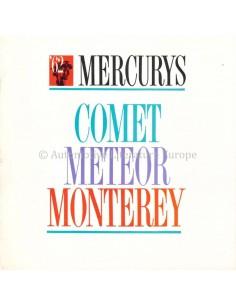 1962 MERCURY PROGRAMM PROSPEKT ENGLISCH