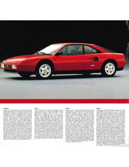 1989 FERRARI MONDIAL T BROCHURE PROSPEKT 562/89