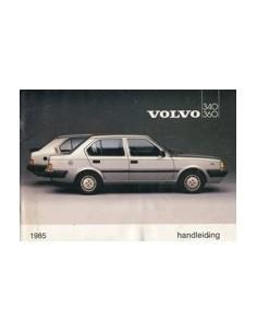1985 VOLVO 340 360 OWNERS MANUAL HANDBOOK DUTCH