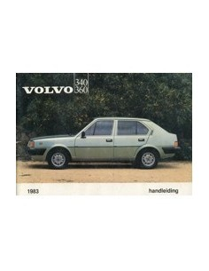 1983 VOLVO 340 360 OWNERS MANUAL HANDBOOK DUTCH