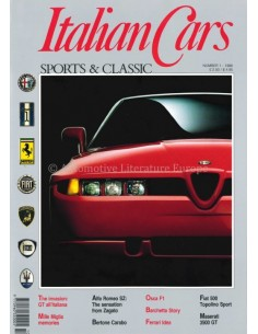 1990 ITALIAN CAR SPORTS & CLASSIC MAGAZINE ENGLISH 1