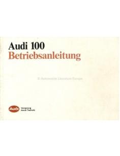 1986 AUDI 100 INSTRUCTIEBOEKJE DUITS