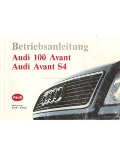 1993 AUDI 100 AVANT & AVANT S4 BETRIEBSANLEITUNG DEUTSCH