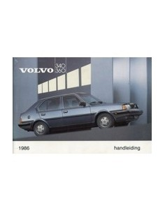 1986 VOLVO 340 360 OWNERS MANUAL HANDBOOK DUTCH