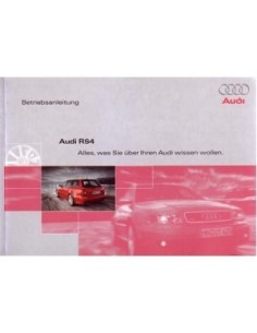 2000 AUDI RS4 OWNERS MANUAL GERMAN