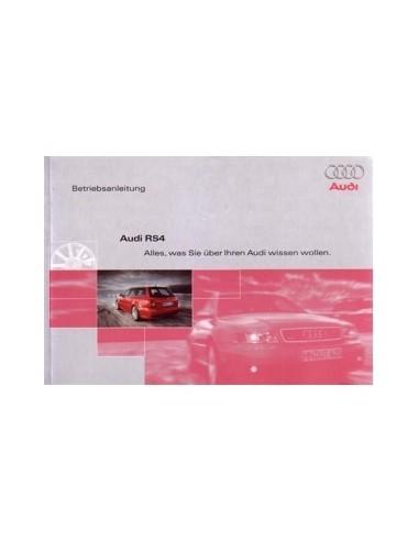 2000 AUDI RS4 INSTRUCTIEBOEKJE DUITS