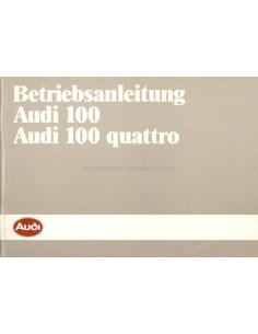 1985 AUDI 100 BETRIEBSANLEITUNG DEUTSCH