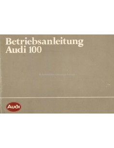 1983 AUDI 100 BETRIEBSANLEITUNG DEUTSCH