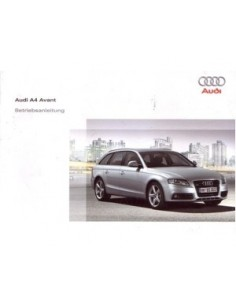 2008 AUDI A4 AVANT OWNERS MANUAL HANDBOOK GERMAN