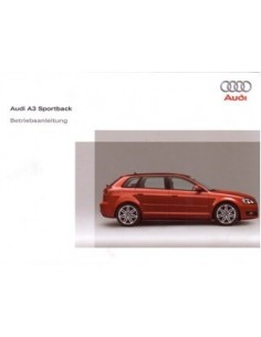 2008 AUDI A3 SPORTBACK OWNER'S MANUAL GERMAN