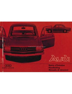1966 AUDI 60 OWNERS MANUAL HANDBOOK DUTCH FRENCH ITALIAN