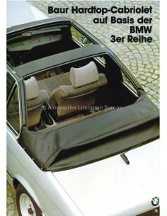 1980 BMW 3ER BAUR HARDTOP CABRIOLET PROSPEKT ENGLISCH