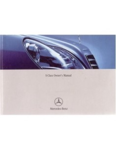 2002 MERCEDES BENZ S CLASS OWNERS MANUAL HANDBOOK ENGLISH