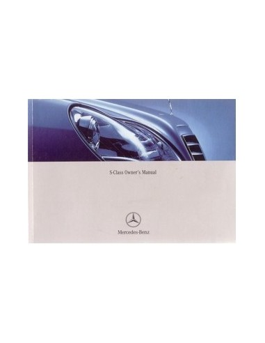 2002 MERCEDES BENZ S KLASSE INSTRUCTIEBOEKJE ENGELS