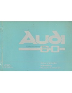1968 AUDI 60 OWNERS MANUAL HANDBOOK DUTCH FRENCH ITALIAN