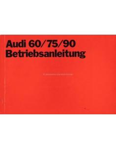 1970 AUDI 60 /  75 /  90 INSTRUCTIEBOEKJE DUITS