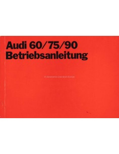 1970 AUDI 60 /  75 /  90 OWNERS MANUAL HANDBOOK GERMAN