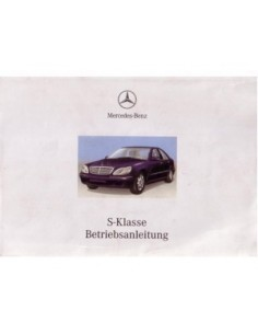 2000 MERCEDES BENZ S CLASS OWNERS MANUAL HANDBOOK GERMAN