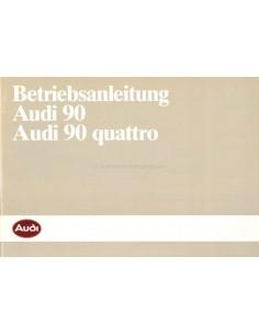 1986 AUDI 90 & 90 QUATTRO BETRIEBSANLEITUNG DEUTSCH