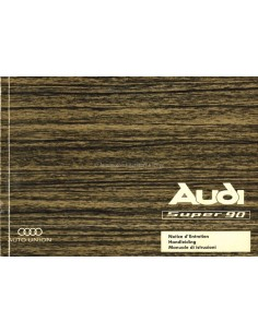 1967 AUDI SUPER 90 OWNERS MANUAL HANDBOOK DUTCH FRENCH ITALIAN