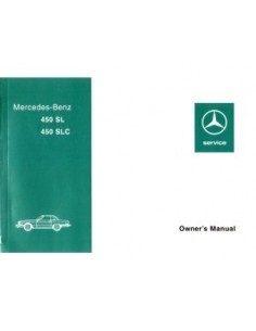 1976 MERCEDES BENZ SL & SLC KLASSE INSTRUCTIEBOEKJE ENGELS