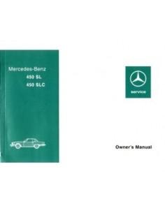 1976 MERCEDES BENZ SL & SLC KLASSE INSTRUCTIEBOEKJE ENGELS