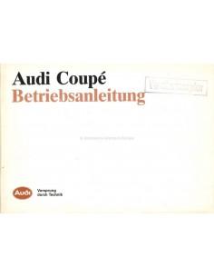 1986 AUDI COUPÉ BETRIEBSANLEITUNG DEUTSCH
