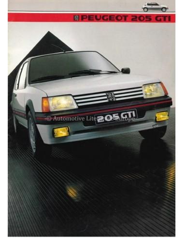 1984 PEUGEOT 205 GTI BROCHURE DUTCH