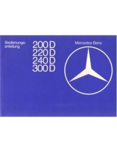 1977 MERCEDES BENZ E CLASS DIESEL OWNERS MANUAL HANDBOOK GERMAN