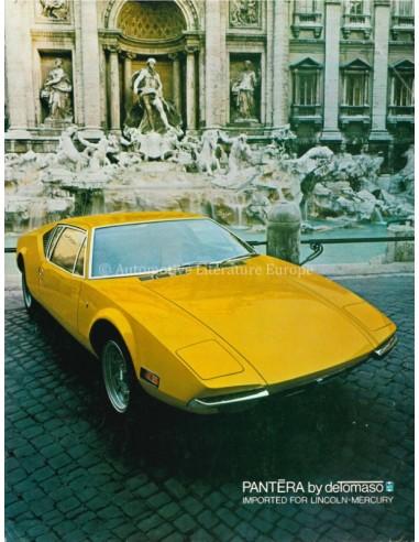 1971 DE TOMASO PANTERA BROCHURE ENGLISH US