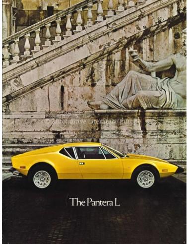 1973 DE TOMASO PANTERA L BROCHURE ENGLISH US