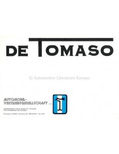 1976 DE TOMASO PROGRAMM PROSPEKT DEUTSCH