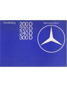 1976 MERCEDES BENZ E CLASS OWNERS MANUAL HANDBOOK DUTCH
