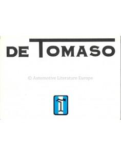 1975 DE TOMASO PROGRAMM PROSPEKT ITALIENISCH ENGLISCH