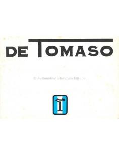 1975 DE TOMASO RANGE BROCHURE ITALIAN ENGLISH