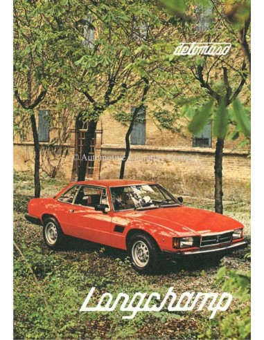 1980 DE TOMASO LONGCHAMP BROCHURE