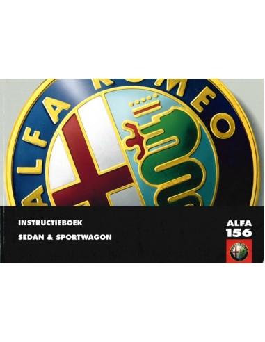 2000 ALFA ROMEO 156 + SPORTWAGON OWNERS MANUAL DUTCH