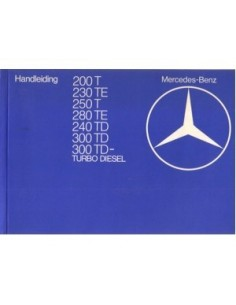 1982 MERCEDES BENZ E CLASS T OWNERS MANUAL HANDBOOK DUTCH