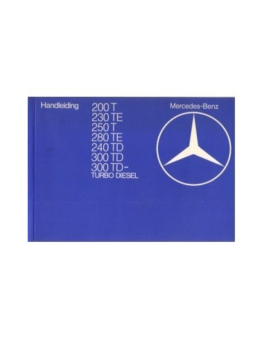 1982 MERCEDES BENZ E KLASSE T INSTRUCTIEBOEKJE NEDERLANDS