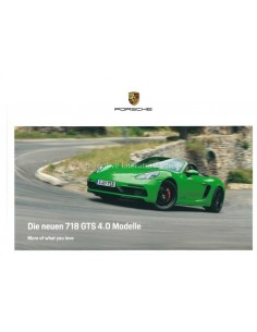 2020 PORSCHE 718 GTS 4.0 BOXTER & CAYMAN HARDBACK BROCHURE GERMAN